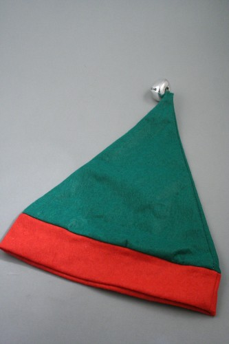 f2b800ec15654 Child Size Christmas Elf Hat in Green with Red Trim and Bell. Approx  Circumference 52cm