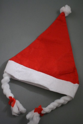 9a3e2d0fda0d9 Christmas Santa Hat with Plaits. Approx circumferences vary between 58 -  60cm. Our Santa