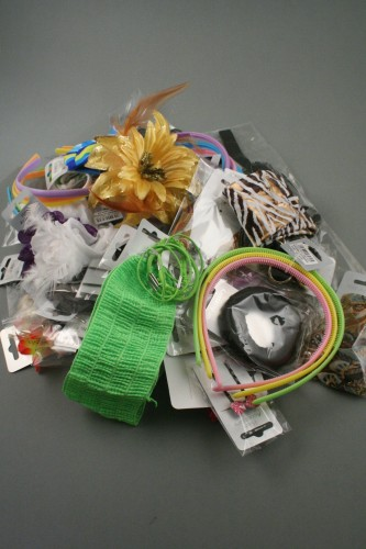 Hair Accessory Clearance. End of line hair accessory clearance lines. Box with at least 160 mixed pieces. Boxes may differ to image. Avg price 0.05p per piece